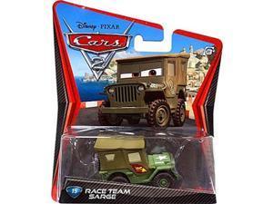 cars 2 disney / pixar movie 155 die cast car #15 race team sarge