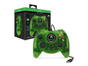 hyperkin duke wired controller for xbox one/ windows 10 pc green limited edition  officially licensed by xbox