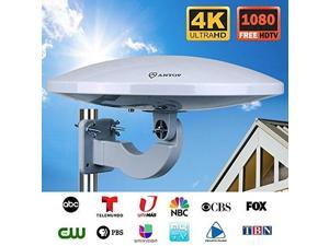 outdoor tv antenna,antop ufo amplified attic hdtv antenna,65 mile long range omni-directional reception for 1080p 4k free tv ch