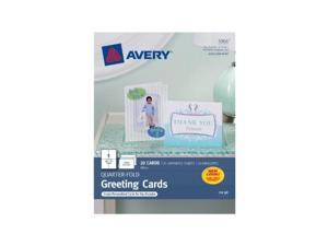 avery quarterfold greeting cards for inkjet printers, 4.25 x 5.5 inches, white, pack of 20 3266