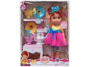 fancy nancy my friend doll in signature outfit, 15inches tall bonus 8pc tea set