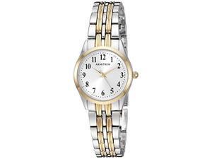 armitron women's 75/5304svtt easy to read dial twotone bracelet watch