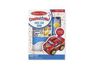 melissa & doug decorateyourown race car bank craft kit