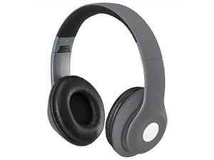 ilive bluetooth onear headphones, includes 3.5mm audio cable and micro usb to usb cable, matte gray iahb48mg