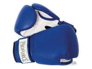 proforce leatherette blue boxing gloves 24 oz