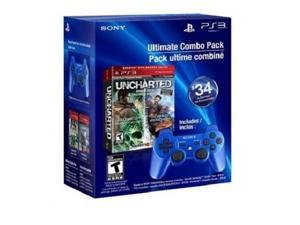 ultimate combo pack: uncharted greatest hits dual pack & dualshock3 wireless controller  playstation 3