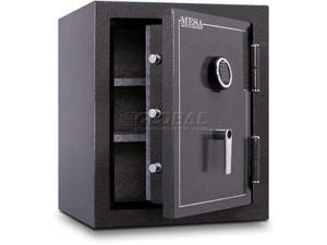 mesa safe company model mbf2620e burglary and fire safe with electronic lock, hammered gray