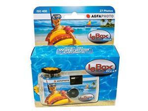 agfa photo lebox ocean 35mm waterproof disposable camera, 27 exposure, iso 400 color film
