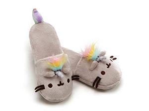 84eee8d08eb gund pusheenicorn pusheen unicorn cat plush stuffed animal slippers ...