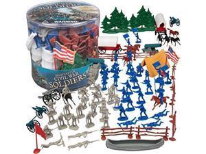 civil war army men action figures  big bucket of civil war soldiers  over 100 piece set