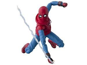 tamashii nations bandai s.h. figuarts spiderman homemade suit & optional act wall set action figure