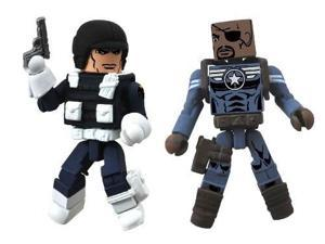 diamond select toys marvel minimates series 51 marvel now nick fury jr. and heavy shield agent the shedevil action figure