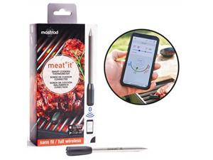Mastrad Meat Thermometer | meat it wireless grill and bbq cooking sensor | connects via Bluetooth to free cooking app