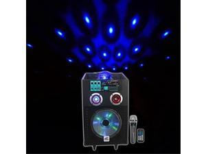 """NYC Acoustics N10AR 10"""" Rechargable Powered Speaker w Bluetooth Party Lights/Mic"""