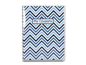 ultra pro  4pocket coupon organizer portfolio  chevron blue