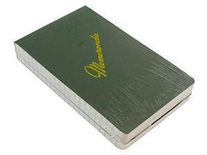 """green military memorandum book / military memo book, 33/8"""" x 51/2"""", dark green, top bound, nsn 7530002439366 3 pack"""