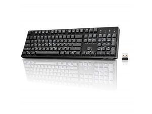 ae11cf1cce1 wireless mechanical keyboard, velocifire vm02ws 104key full size with  tactile brown switches white led backlit