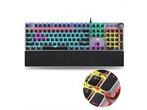 aula gaming keyboard usb wired keyboard, mechanical keyboard, full metal panel leakproof keyboard, ergonomic design, light keyboard desktop, computer