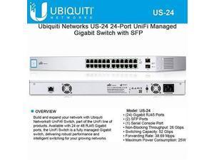 ubiquiti networks us24 24port unifi managed gigabit switch with sfp