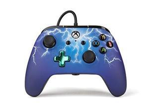powera enhanced wired controller for xbox one  spider lightning  xbox one