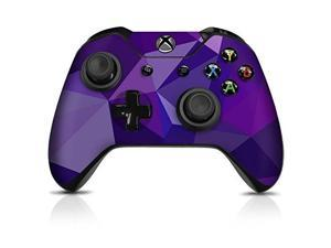 controller gear controller skin  purple poly  officially licensed by xbox one