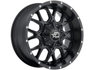 "dropstars 645b wheel with black finish 17x9""/6x5.5"", 12mm offset"