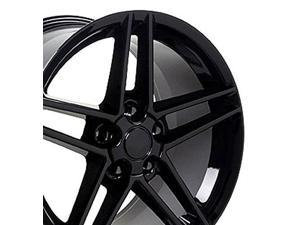 oe wheels 19 inch fits chevy corvette c6 z06 style cv07b gloss black 19x10 rim