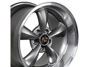 oe wheels 18 inch fits ford mustang 19942004 bullitt style fr01 anthracite 18x10 rim hollander 3448