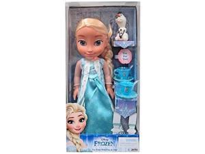 disney princess elsa doll & olaf tea set