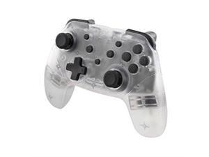 nyko wireless core controller  bluetooth pro controller alternative with turbo and android/pc compatibility for nintendo switch  clear