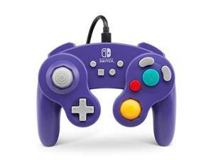 powera wired controller for nintendo switch  gamecube style: purple  nintendo switch