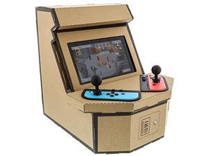 nyko pixelquest arcade kit  constructible arcade kit with customizable pixel art sticker kit and arcade stick toppers for nintendo switch