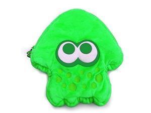 hori splatoon 2 squid plush pouch neon green officially licensed  nintendo switch