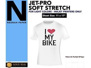 iron on heat transfer paper jetpro ss sofstretch 11 x 17 custom pack 100 sheets
