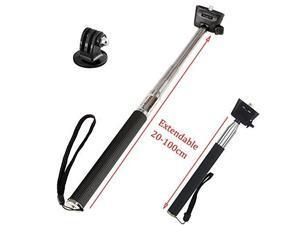 xshot extendable handheld telescopic monopod action camera selfie stick for gopro hero 6 5/akaso/apeman/campark 4k waterproof action sports camera