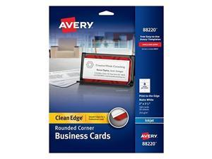 avery twoside printable clean edge rounded corner business cards for inkjet printers, white, pack of 160 88220