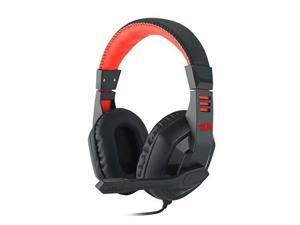 redragon h101 gaming headset, wired over ear pc gaming headphones with mic builtin noise reduction, for pc, laptop, tablet, ps4, xbox one