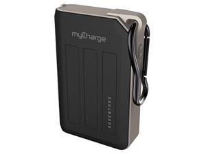 mycharge adventuremax portable charger 10500mah dual usb port rugged external battery pack power bank  usb and cell phones iphone xs, xs max, xr, x, 8/7 / 6, samsung galaxy, camping accessories