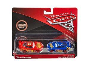 disney/pixar cars 3 lightning mcqueen and fabulous lightning mcqueen diecast vehicles