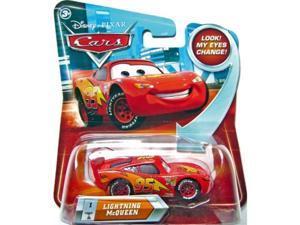 lightning mcqueen #1 w/ lenticular eyes disney / pixar cars 1:55 scale diecast vehicle