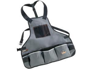 arsenal 5700 torso length work tool apron, 16pockets, gray