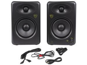 "rockville asm5 5"" 2way 200w active/powered usb studio monitor speakers pair"