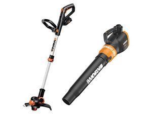 worx wg921 20v max string trimmer/edger and blower combo kit