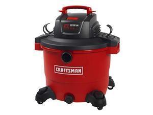 craftsman 17595 16 gallon 6.5 peak hp wet/dry vac, heavyduty shop vacuum with attachments