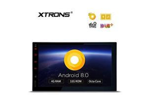 xtrons 7 inch android 8.0 octa core 4g ram 32g rom hd digital multitouch screen car stereo gps radio obd2 tpms double 2 din