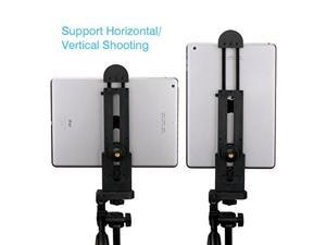 ulanzi ipad tablet tripod mount adapter flexible adjustable clamp tablet holder for ipad air pro,microsoft surface and most tablets 5inch12inch screen etc.