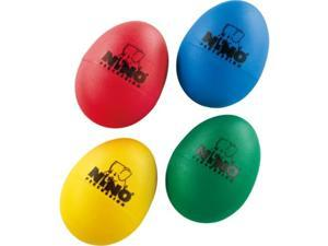 nino percussion percussion kids 4piece plastic egg shaker set with assorted colors  for classroom music or playing at home, 2year warranty ninoset540
