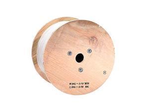 Monoprice 500ft RG6 Quad Shield Coax Cable, PVC ETL, White CM/CL2