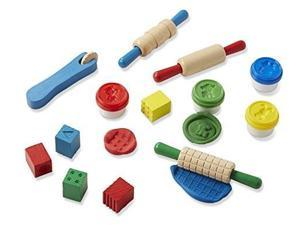 melissa & doug shape, model, and mold clay activity set  4 tubs of modeling dough and tools