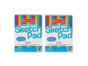 melissa & doug sketch pad, arts & crafts, faderesistant, acidfree white paper, 50 sheets, 2pack, 9 w x 12 l